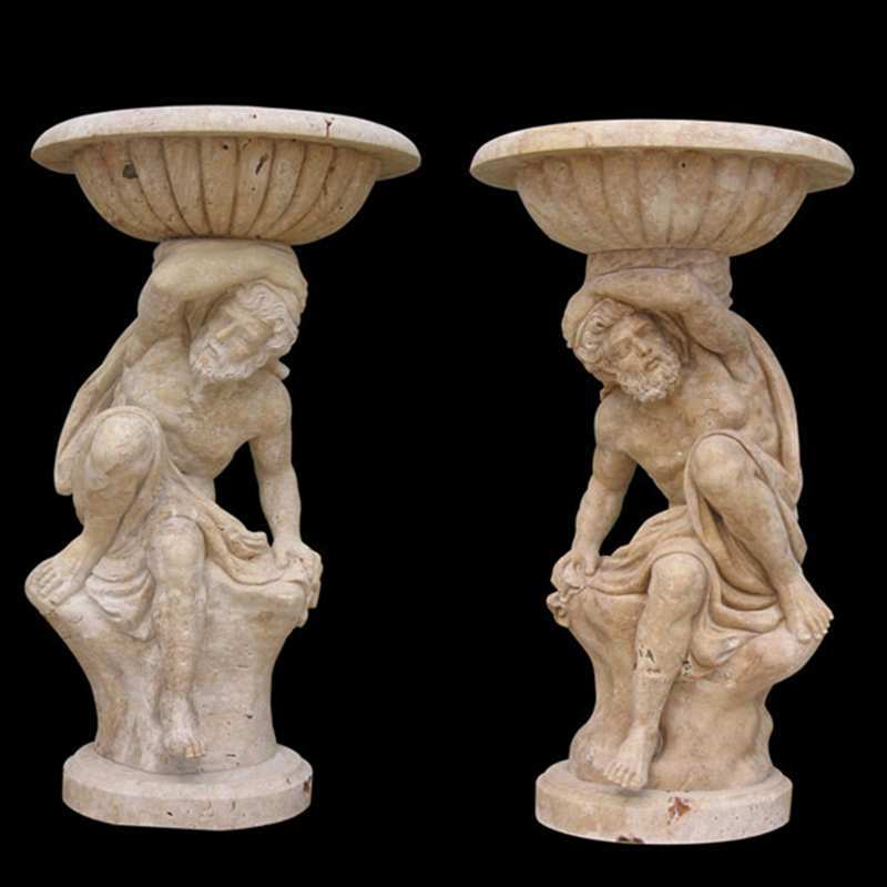 unique tall garden outdoor figure marble flower pots for sale for garden decorations