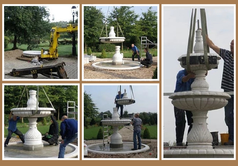 outdoor statue water fountains