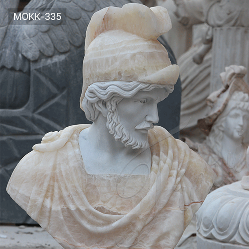 Classical Life Size Roman Marble Bust Statue of a Man for Sale