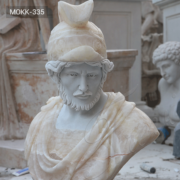 Classical Life Size Roman Marble Bust Statue of a Man for Sale MOKK-335