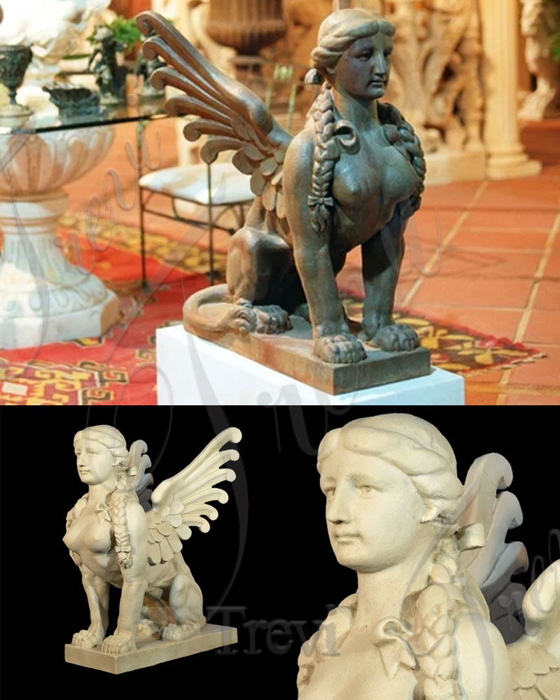 Handmade Famous Sphinx Marble Statue