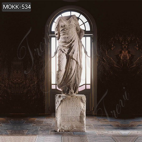 Large Marble Draped Torso of Goddess Statue Venus for Sale MOKK-534