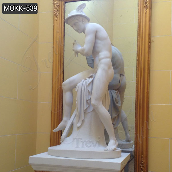 Life Size Sitting Mercury Marble Statue Famous Museum Replica Collection MOKK-539