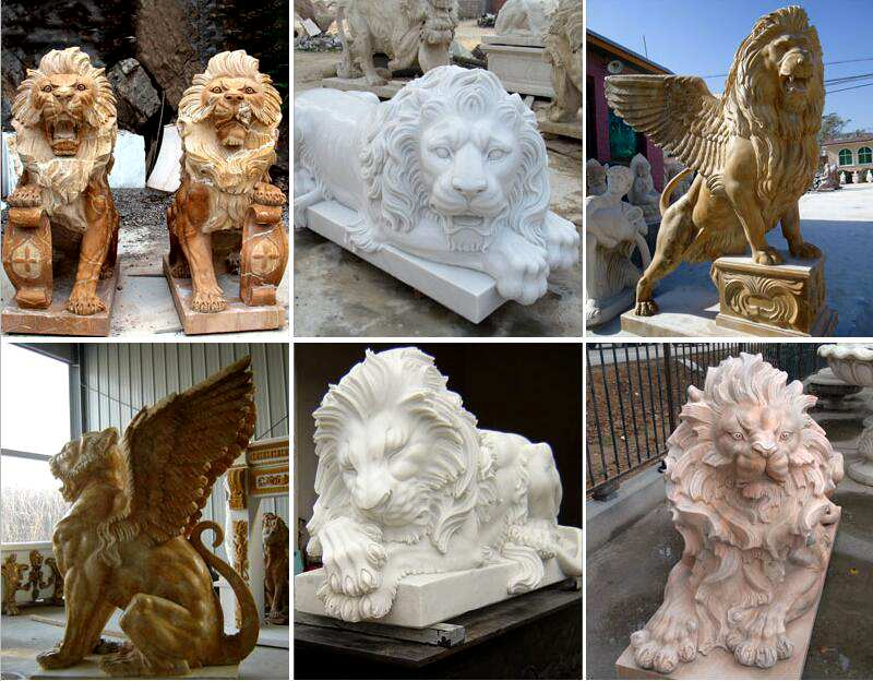 marble lion garden statues for sale