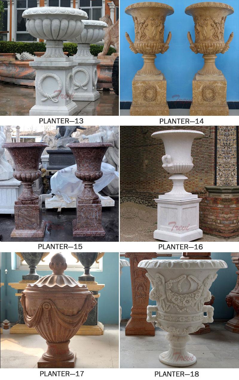 marble planter manufacturer