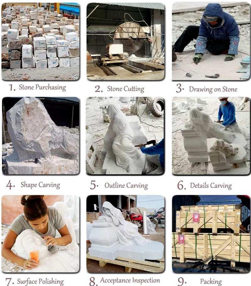process of Mercury Marble Statue Famous Museum Replica