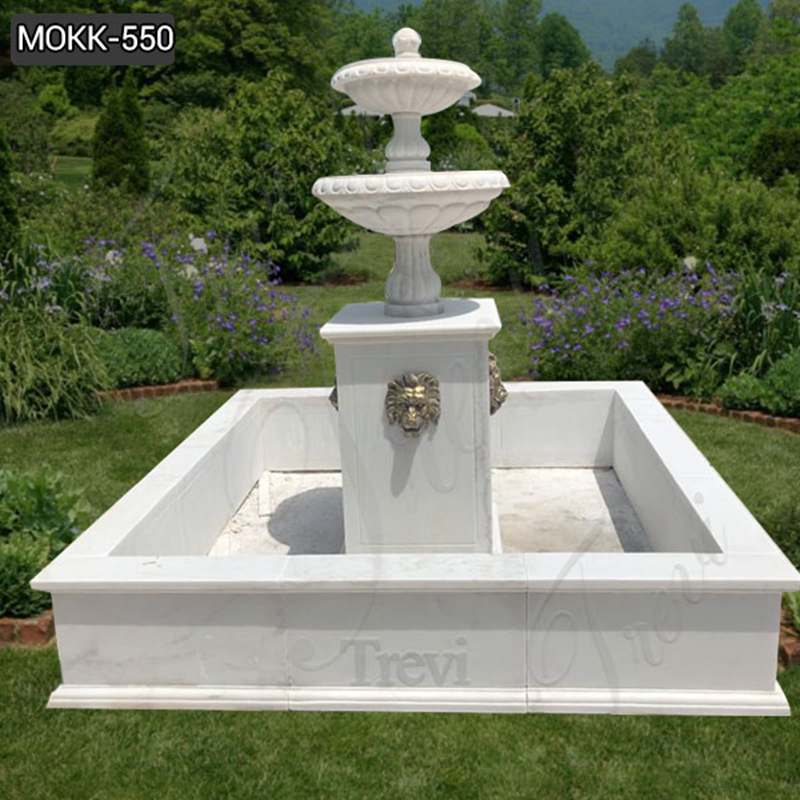 Cheap Price Two Tiered Marble Water Garden Fountain Supplier