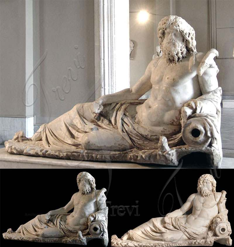 Marble Statue of Oceanus from Ephesus Replica