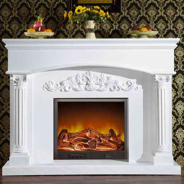 Where to Buy White Marble Fireplace Mantel from Factory MOKK-137