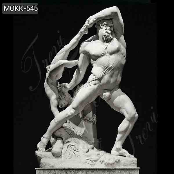 White Marble Hercules and Lichas Statue by Antonio Canova Replica MOKK-545