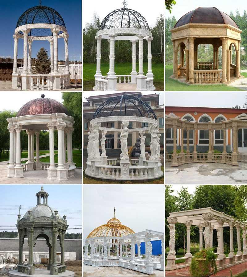 outdoor marble gazebo large