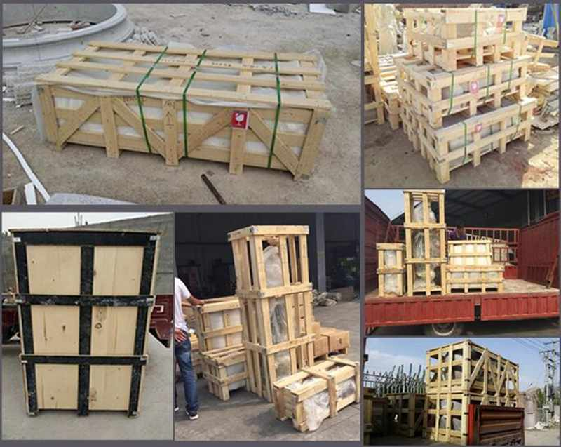 packing of White marble fireplace mental shelf for sale