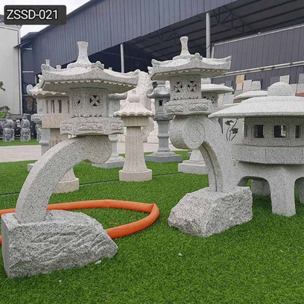 Custom Made Outdoor Stone Lantern for Garden Decor Supplier ZSSD-021