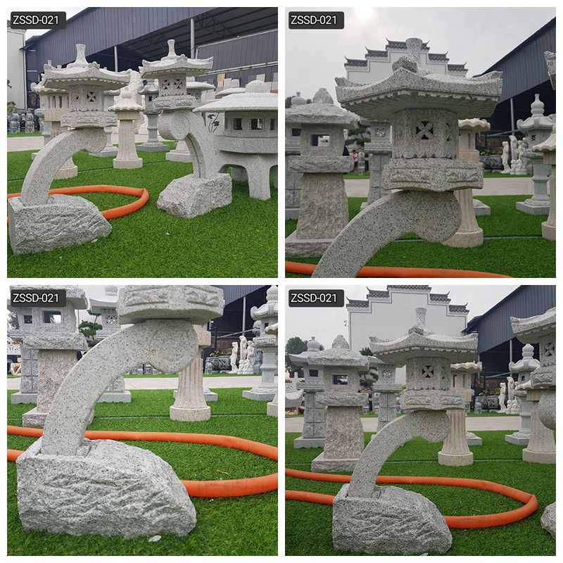 Custom Made Outdoor Stone Lantern for Garden Decor Supplier