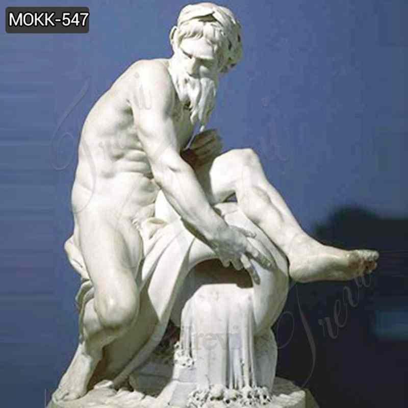 Decorative Famous Sculpture A River God Marble Statue for Sale