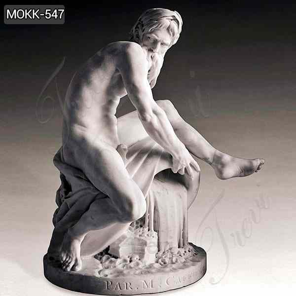 Decorative Famous Sculpture A River God Marble Statue for Sale MOKK-547