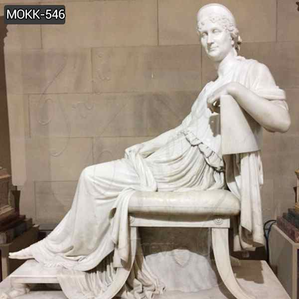 Famous Letizia Ramolino Bonaparte Marble Statue for Sale
