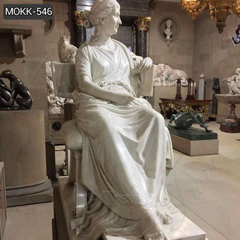 Famous Letizia Ramolino Bonaparte Marble Statue