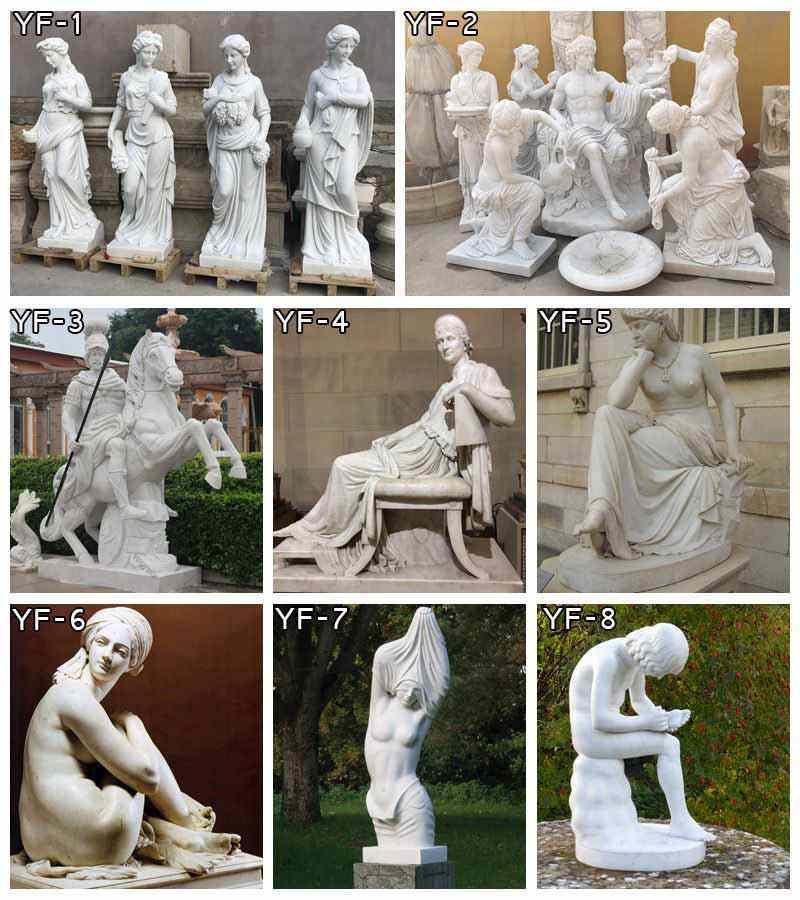 Famous Sculpture A River God Marble Statue for Sale