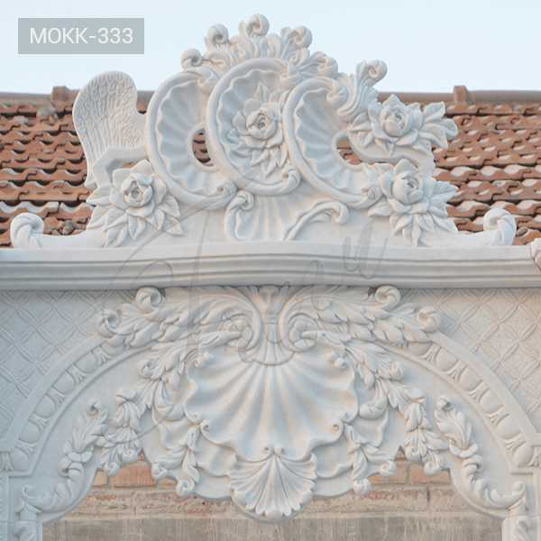 Hand Carved Double White Marble Fireplace Supplier