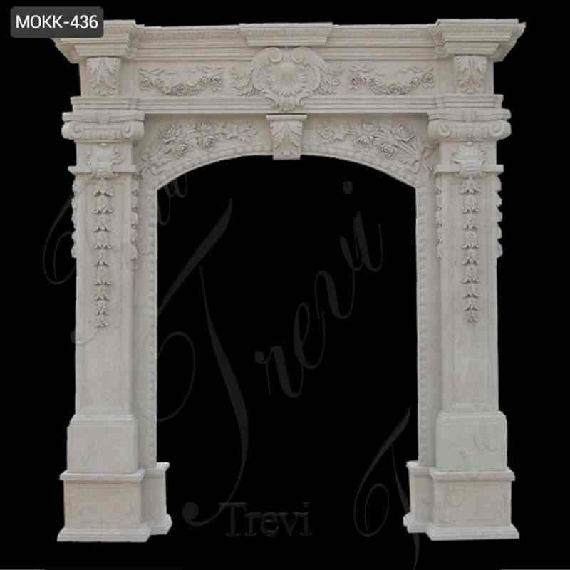 High Quality Beautiful White Marble Door Frame Design Supplier