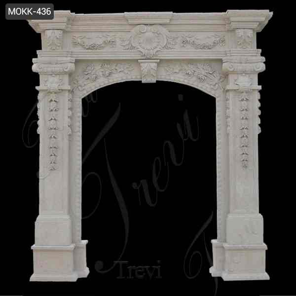 High Quality Beautiful White Marble Door Frame Design Supplier MOKK-436