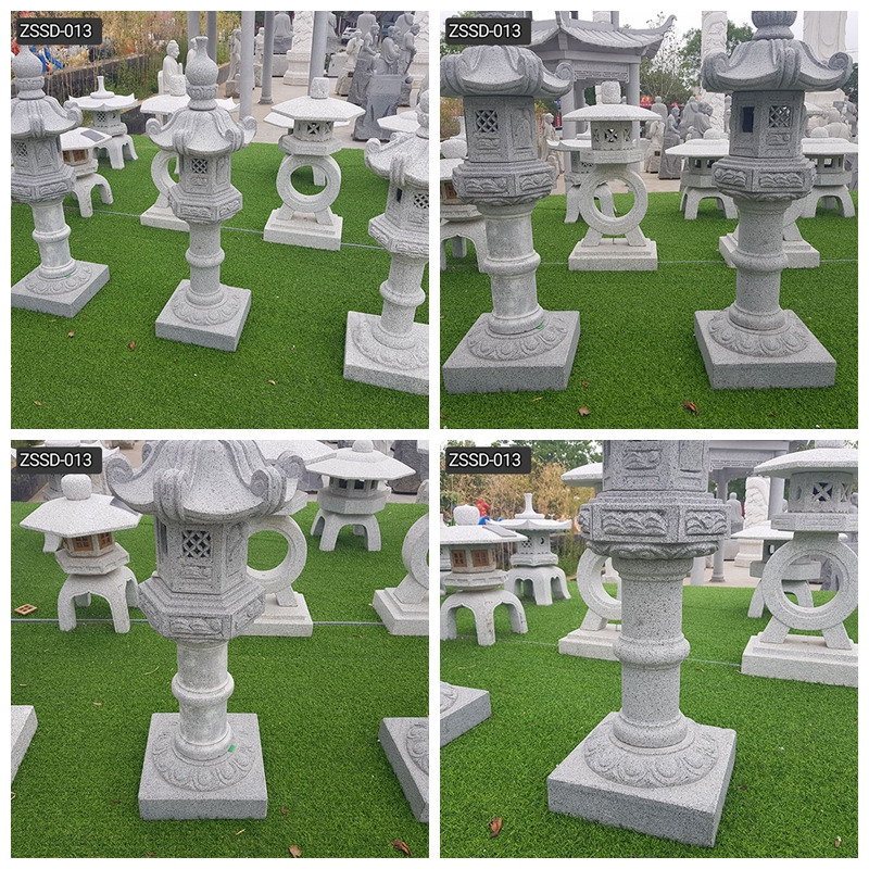 High Quality Outdoor Japanese Granite Garden Lamp Decor