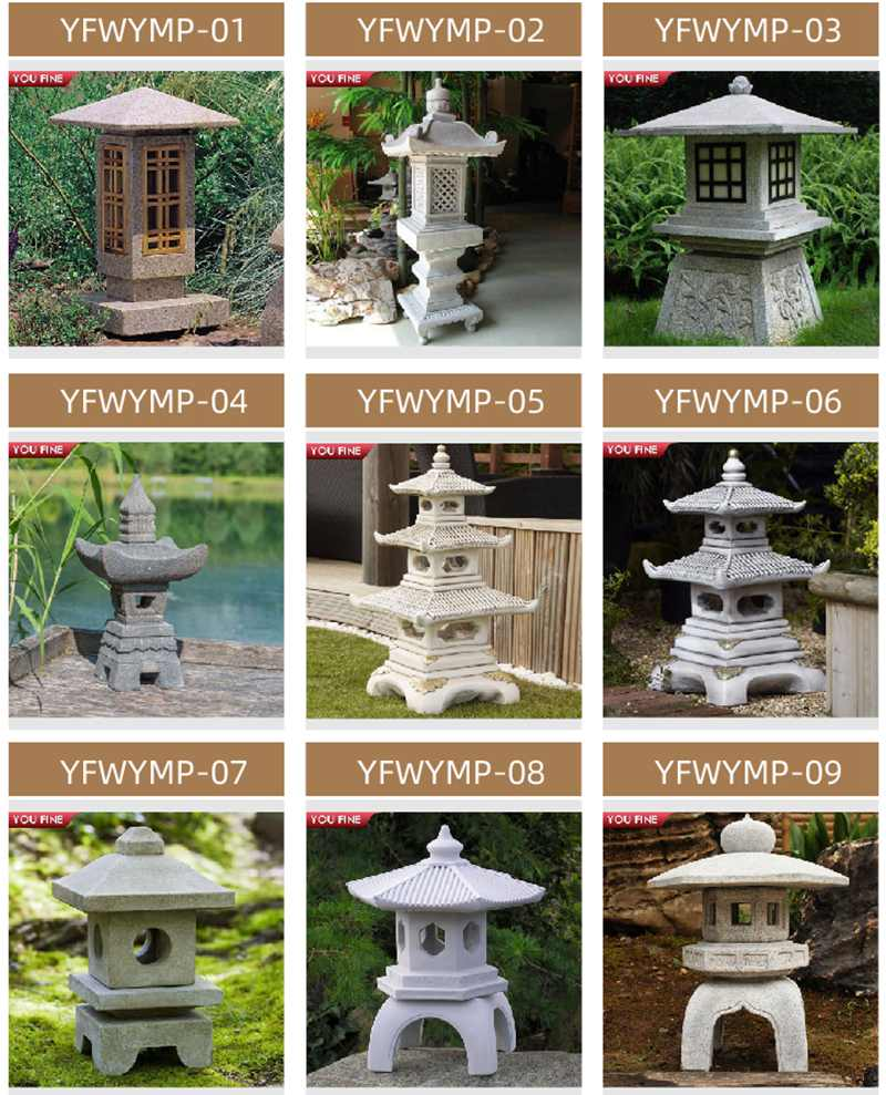 High Quality Outdoor Japanese Stone Lamp for Sale
