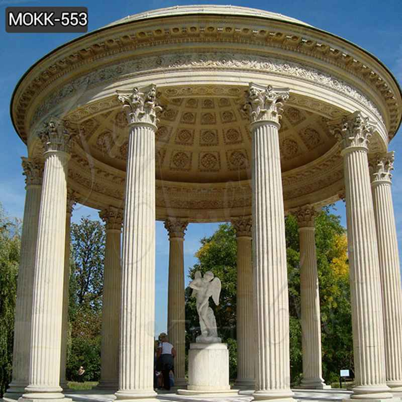 Large Outdoor Roman Marble Column Gazebo from Factory Supply