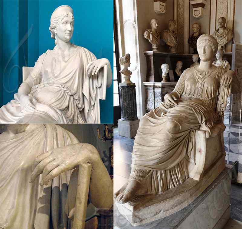 Letizia Bonaparte Marble Statue