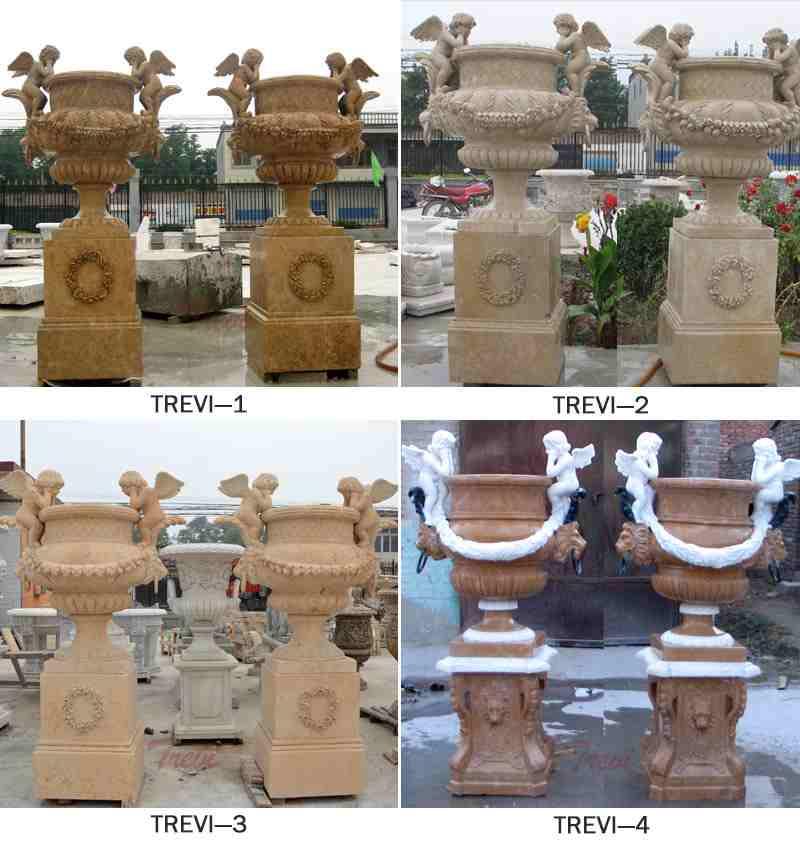 decoration marble planter