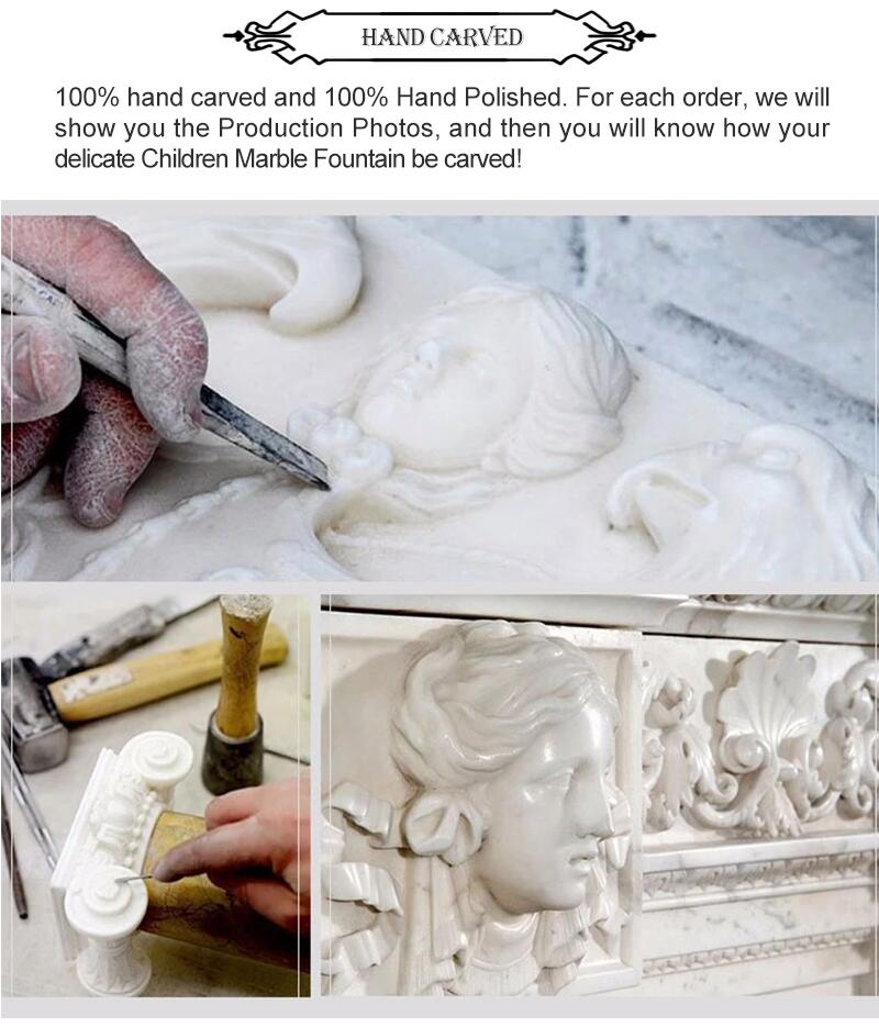 process of natural marble flower pot
