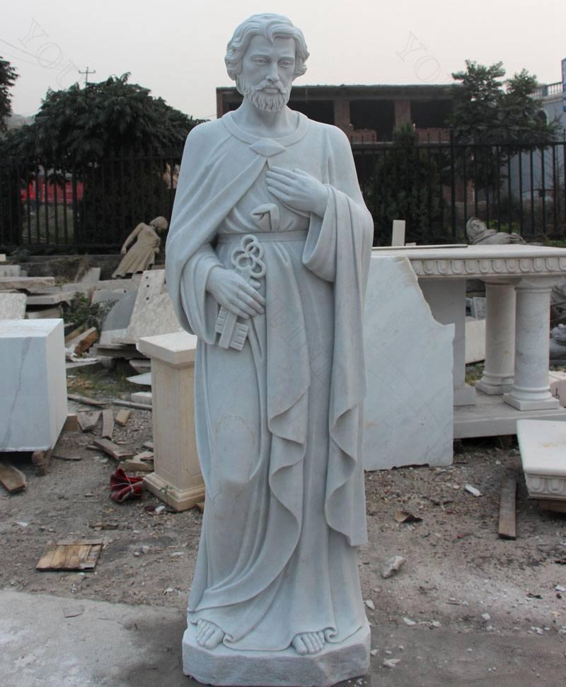 High Quality Catholic Religious Saint Peter Marble Statue