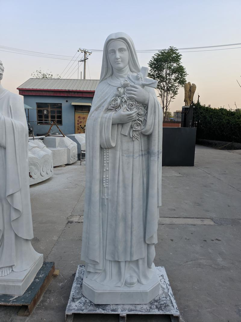 Life Size Religious St. Teresa of Calcutta Marble Statue for Sale