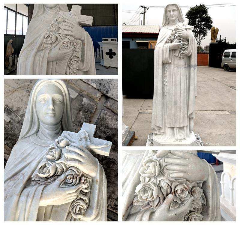 Religious St. Teresa of Calcutta Marble Statue for Sale