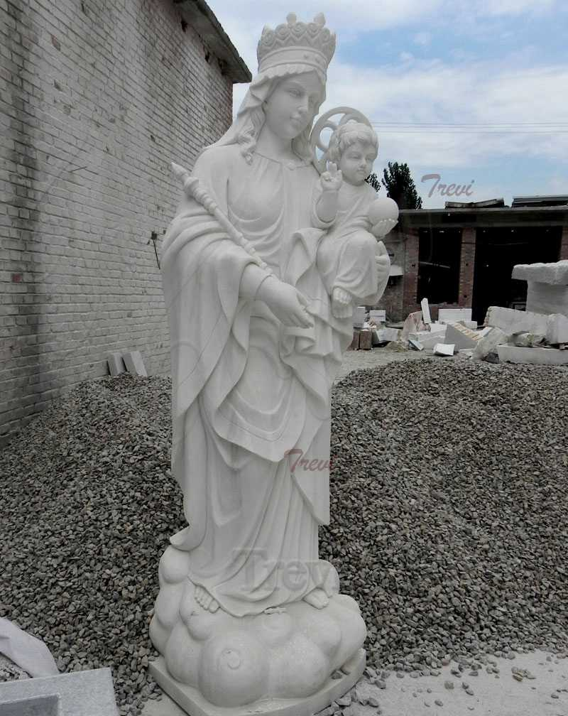 White Marble Our Lady of Perpetual Help Statue for Sale