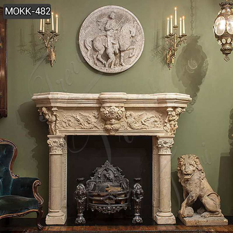 marble fireplace mantel designs for sale