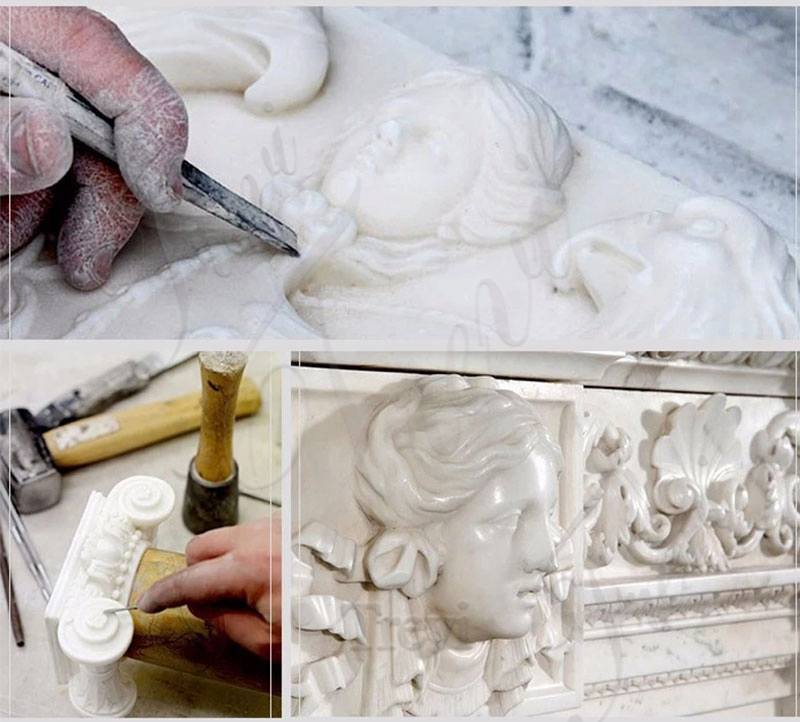 process of Catholic Religious Saint Peter Marble Statue for Sale