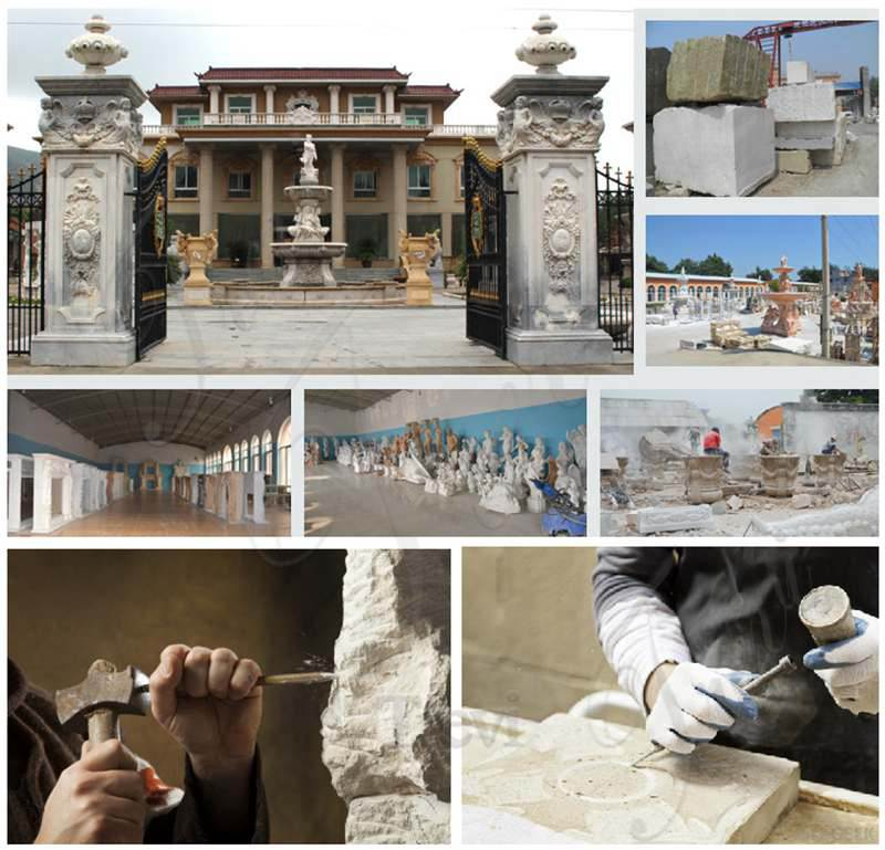 White Marble Lady Statue Columns Supplier