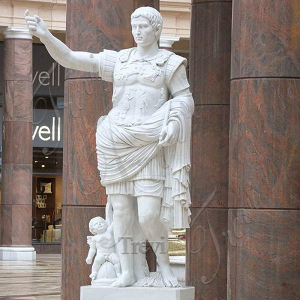 Augustus of Prima Porta Statue Julius Caesar Marble Sculpture for Sale MOKK-615