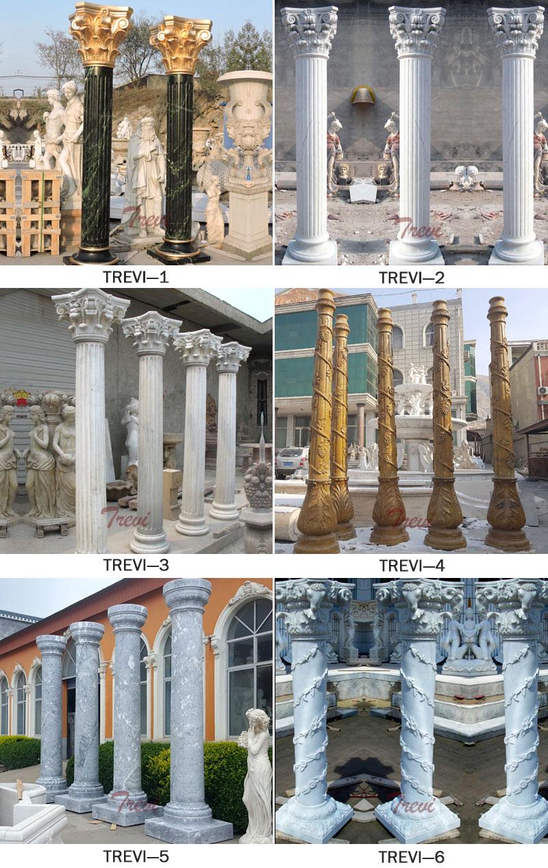 Natural Solid Granite Column Pedestals