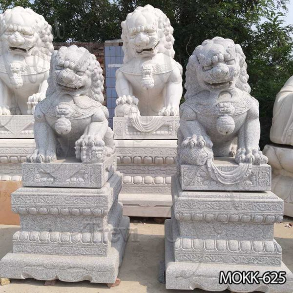 Natural Stone Foo Dog Statue for Outdoor Decor Supplier MOKK-625