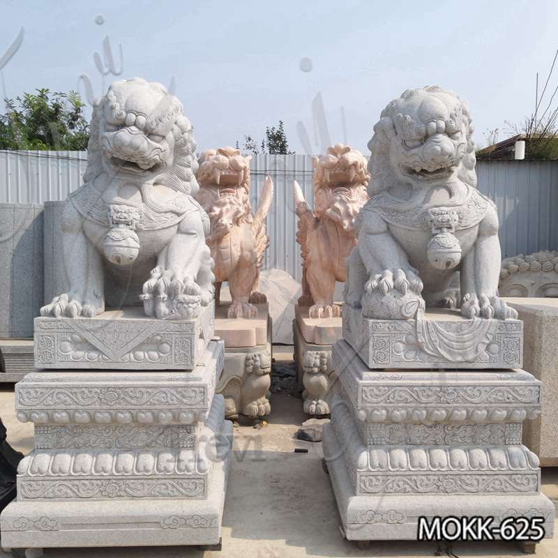 Stone Foo Dog Statue for Outdoor Decor Supplier