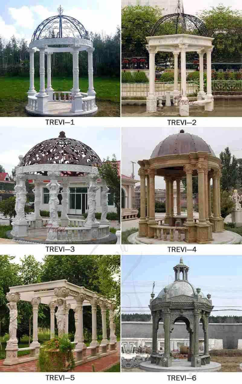 Large Marble Column Gazebo for Sale