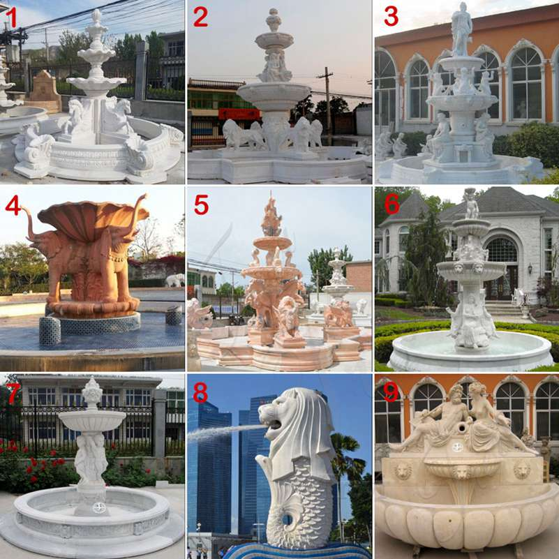 Large Marble Statuary Fountain for Garden Supplier