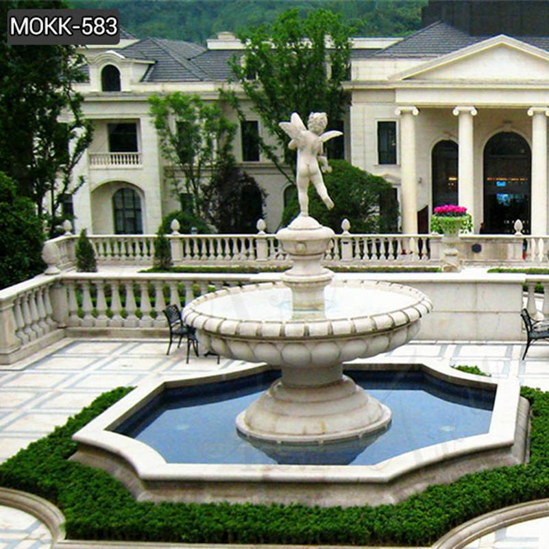 Large Outdoor Marble Fountains with Baby Statue Wholesales