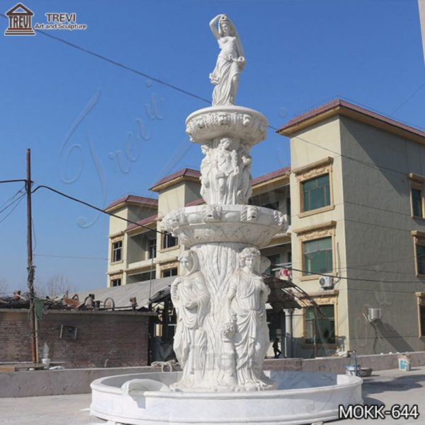 Large Tiered Marble Statuary Fountain for Garden Supplier MOKK-644