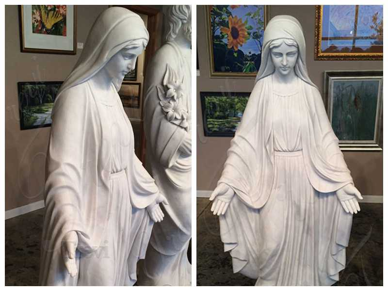 ddetail White Marble Mother Mary Statue Factory Supply