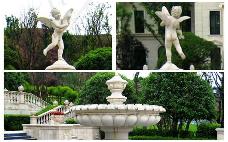 detail of marble fountains