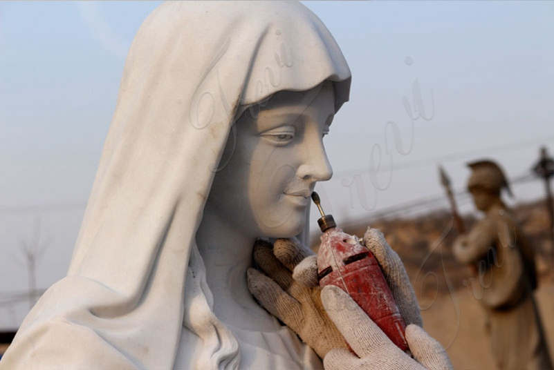 process of outdoor statues of mary